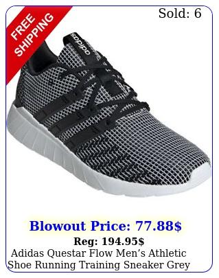 adidas questar flow mens athletic shoe running training sneaker grey traine