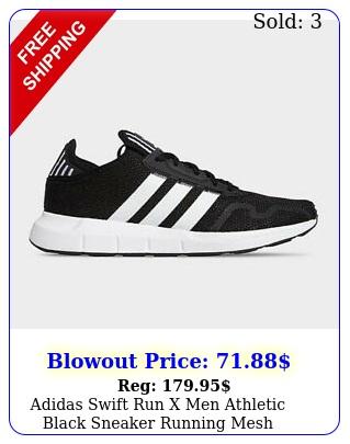 adidas swift run x men athletic black sneaker running mesh training casual sho