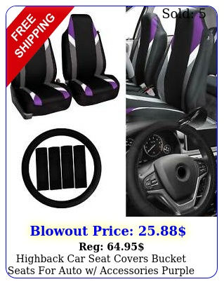 highback car seat covers bucket seats auto w accessories purple blac