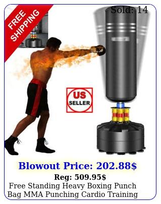 free standing heavy boxing punch bag mma punching cardio training kickboxing us