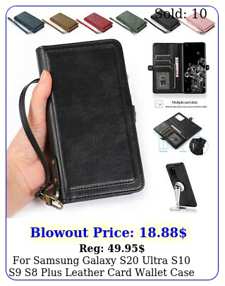 samsung galaxy s ultra s s s plus leather card wallet case phone cove