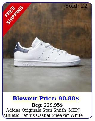 adidas originals stan smith mens athletic tennis casual sneaker white sho