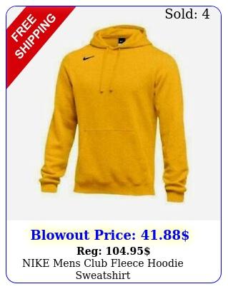 nike mens club fleece hoodie sweatshir