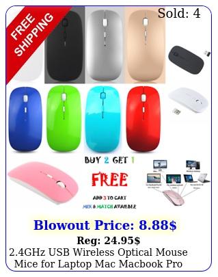 ghz usb wireless optical mouse mice laptop mac macbook pro air pc dpi us
