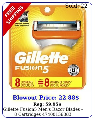 gillette fusion men's razor blades  cartridge