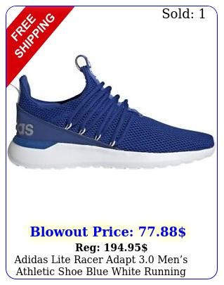 adidas lite racer adapt mens athletic shoe blue white running sneake