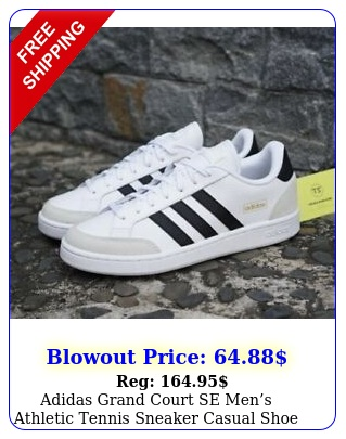 adidas grand court se mens athletic tennis sneaker casual shoe white traine