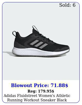 adidas fluidstreet women's athletic running workout sneaker black shoe traine