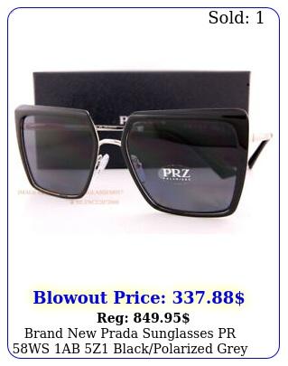 brand prada sunglasses pr ws ab z blackpolarized grey wome