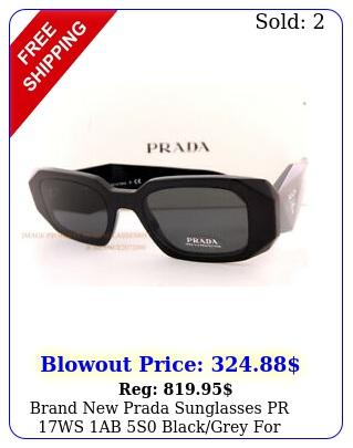 brand prada sunglasses pr ws ab s blackgrey wome