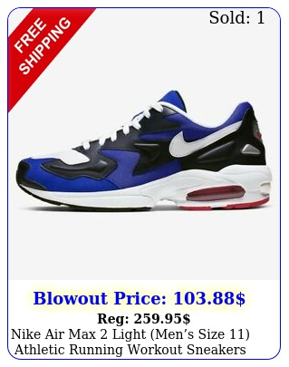 nike air max light mens size athletic running workout sneakers shoe