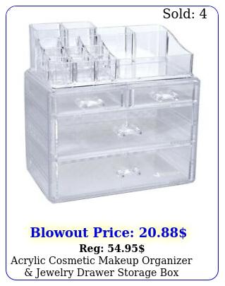acrylic cosmetic makeup organizer jewelry drawer storage display cas