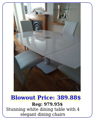 stunning white dining table with elegant dining chair