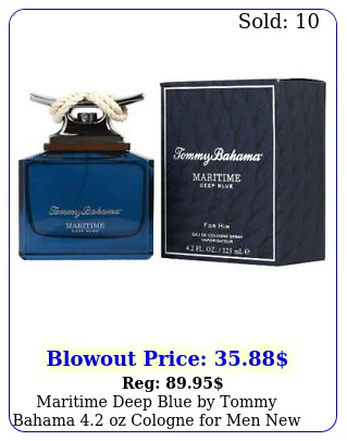 maritime deep blue by tommy bahama oz cologne men in bo