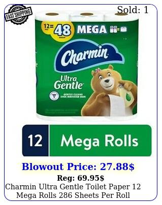 charmin ultra gentle toilet paper mega rolls sheets rol