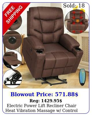 electric power lift recliner chair heat vibration massage w control elderl