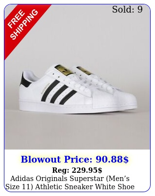 adidas originals superstar mens size athletic sneaker white shoe shell to