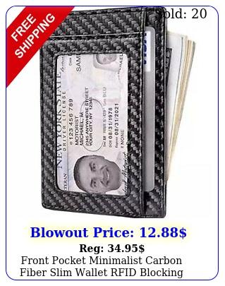 front pocket minimalist carbon fiber slim wallet rfid blocking credit car