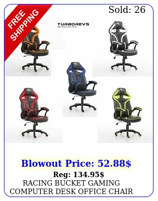 racing bucket gaming computer desk office chair faux leathernew neo morpheu