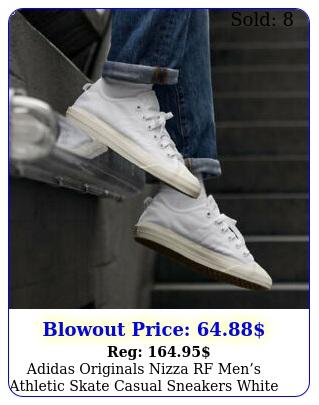 adidas originals nizza rf mens athletic skate casual sneakers white og shoe