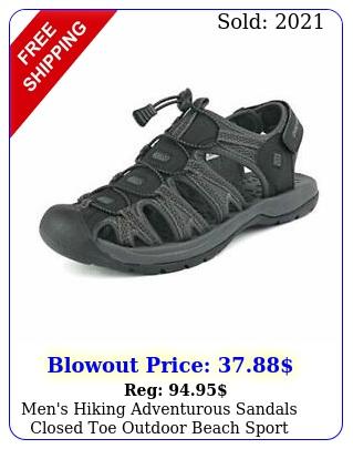 men's hiking adventurous sandals closed toe outdoor beach sport fisherman shoe