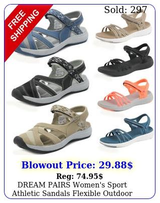 dream pairs women's sport athletic sandals flexible outdoor walking hiking shoe