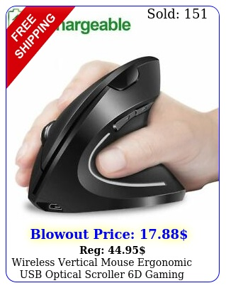wireless vertical mouse ergonomic usb optical scroller d gaming mice rechargeb