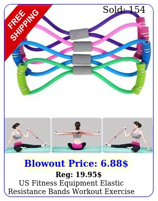 us fitness equipment elastic resistance bands workout exercise band yog