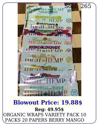 organic wraps variety pack packs papers berry mango grape honey high h