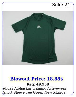 adidas alphaskin training activewear short sleeve tee green xlarg