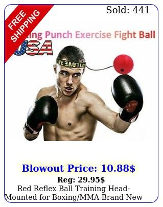 red reflex ball training headmounted boxingmma brand free shippin