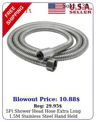ft shower head hose extra long m stainless steel hand held bathroom flexibl