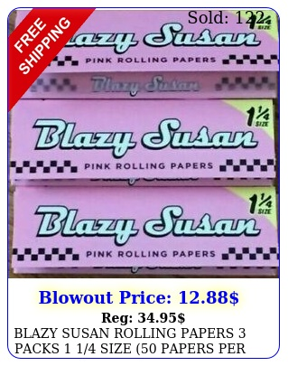 blazy susan rolling papers packs  size papers pac