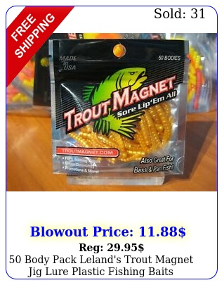 body pack leland's trout magnet jig lure plastic fishing baits mealworm gol
