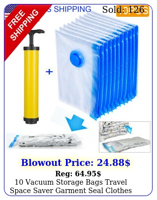 vacuum storage bags travel space saver garment seal clothes hand pump mediu