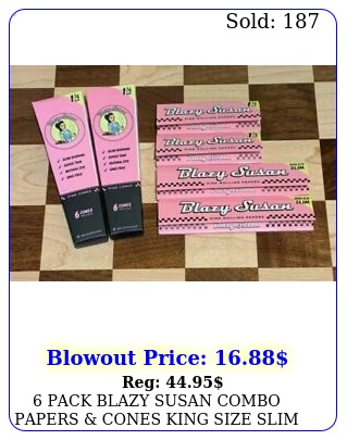 pack blazy susan combo papers cones king size slim  pink rolling paper
