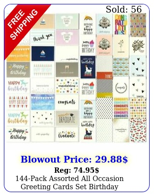 pack assorted all occasion greeting cards set birthday congrats design