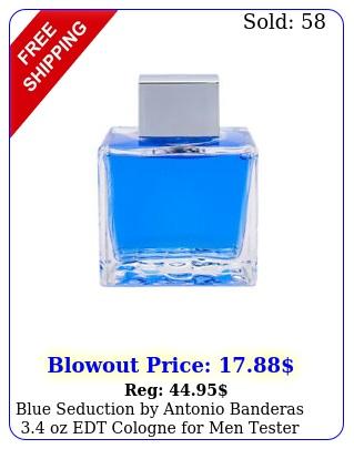 blue seduction by antonio banderas oz edt cologne men teste