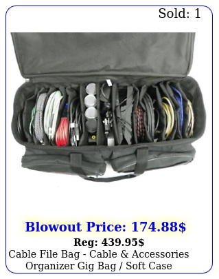 cable file bag cable accessories organizer gig bag soft cas