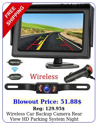 wireless car backup camera rear view hd parking system night vision  monito