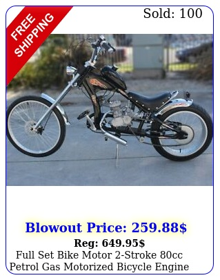 full set bike motor stroke cc petrol gas motorized bicycle engine kit cycli