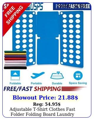 adjustable tshirt clothes fast folder folding board laundry organizer adul