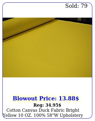 cotton canvas duck fabric bright yellow oz w upholstery water repe