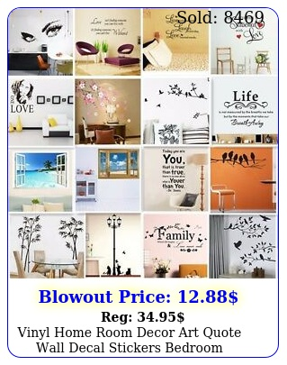 vinyl home room decor art quote wall decal stickers bedroom removable mural di