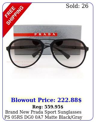 brand prada sport sunglasses ps rs dg a matte blackgray gradient me