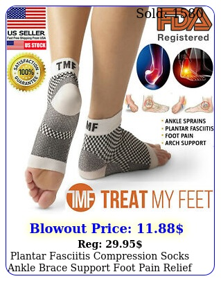 plantar fasciitis compression socks ankle brace support foot pain relief sock