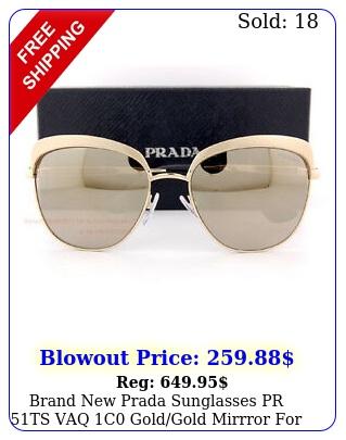 brand prada sunglasses pr ts vaq c goldgold mirrror wome