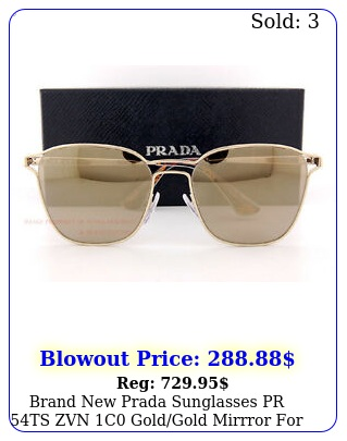 brand prada sunglasses pr ts zvn c goldgold mirrror wome