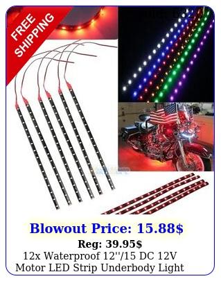 x waterproof '' dc v motor led strip underbody light car motorcycl