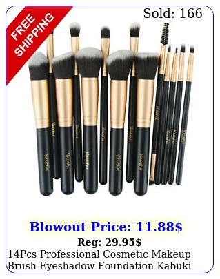 pcs professional cosmetic makeup brush eyeshadow foundation kabuki black se